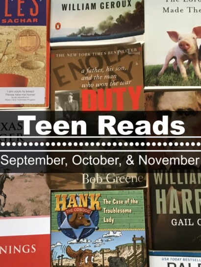 Teen Reads September, October, November
