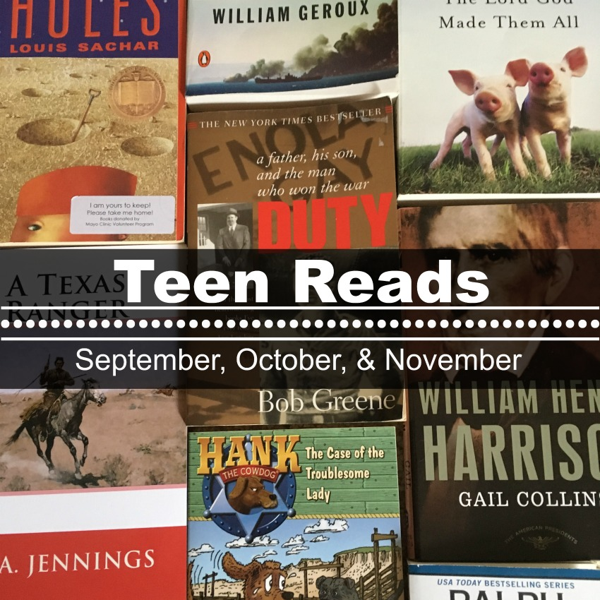 Teen Reads September, October, November