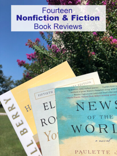 Stack of books and Nonfiction and Fiction Book Reviews
