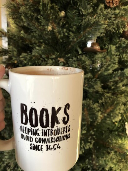 Coffee Cup with words about books
