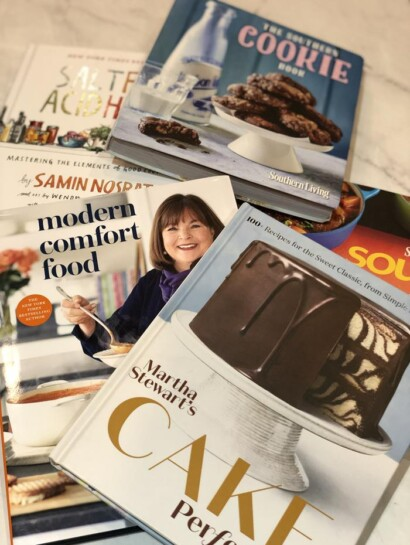 A list of cookbooks I bought in 2020