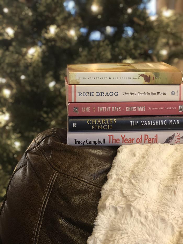 December Reading 2020 Book Stack