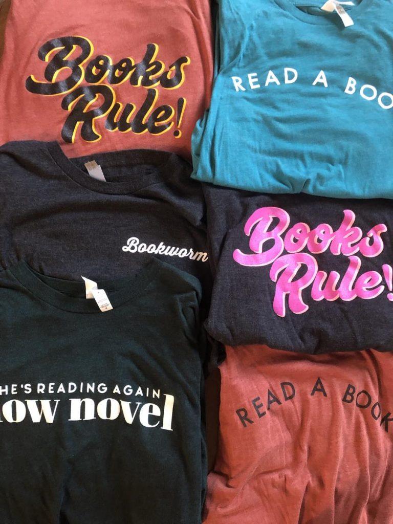 Six Bookshelf Tees tshirts