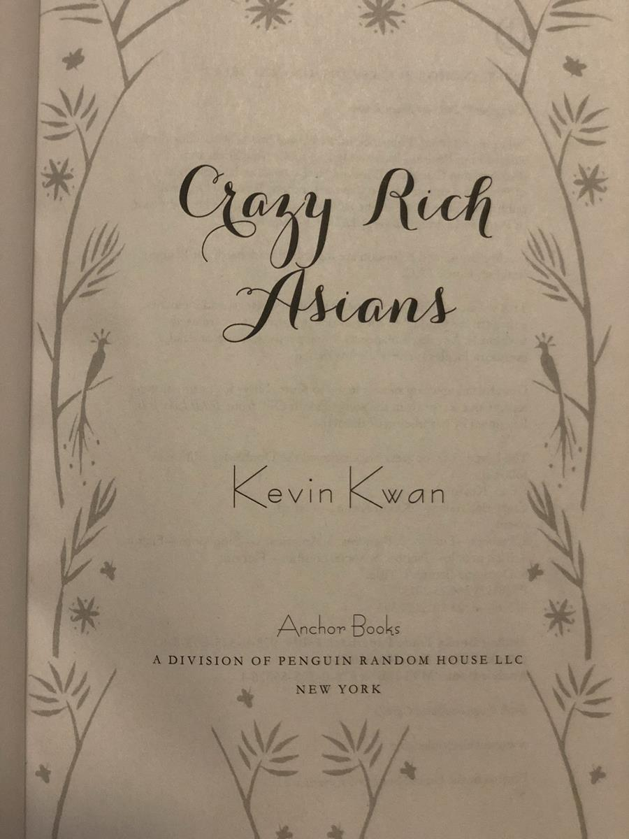 Crazy Rich Asians book page