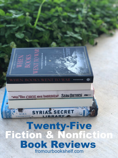 Twenty Five Fiction and Stack of Books and Nonfiction Book Reviews