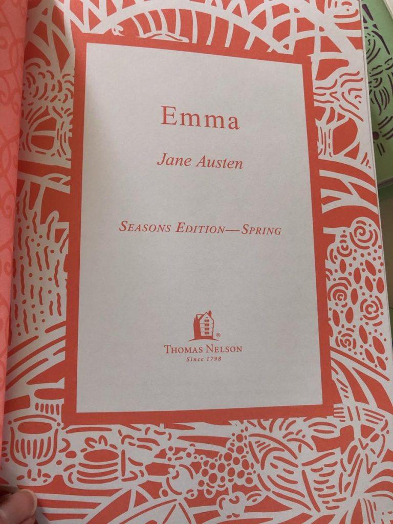 Thomas Nelson Seasons Edition Spring Emma inside